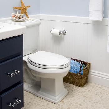 Pebble Bathroom Floor, Cottage, bathroom, EMI Interiors