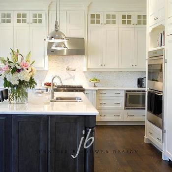 2 Tone Kitchen, Transitional, kitchen, Jennifer Brouwer Design