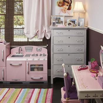Pink and Brown Girl's Bedroom, Traditional, girl's room, EMI Interiors