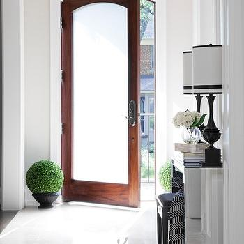 Frosted Glass Front Door, Contemporary, entrance/foyer, Jennifer Brouwer Design