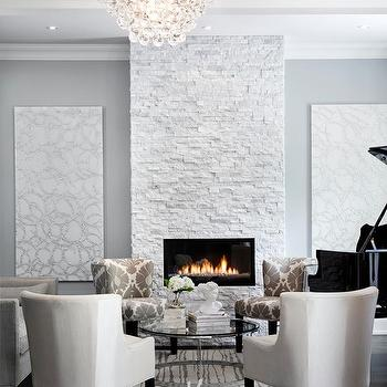 Robert Abbey Bling Chandelier, Contemporary, living room, Jennifer Brouwer Design