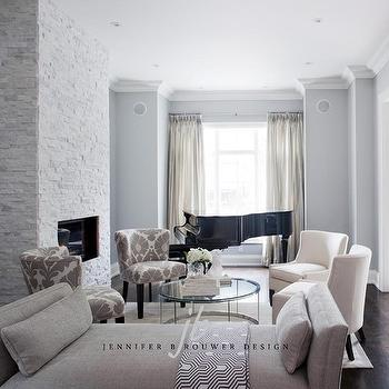 Long Living Room Design, Contemporary, living room, Jennifer Brouwer Design