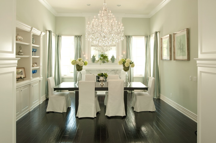 Slipcovered Dining Chairs - French - dining room - Alexandra Rae ...