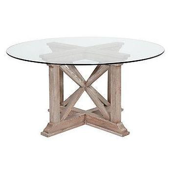 Z Gallerie   Rencourt Round Dining Table   White Wash