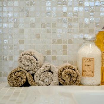 Iridescent Tile Bathroom