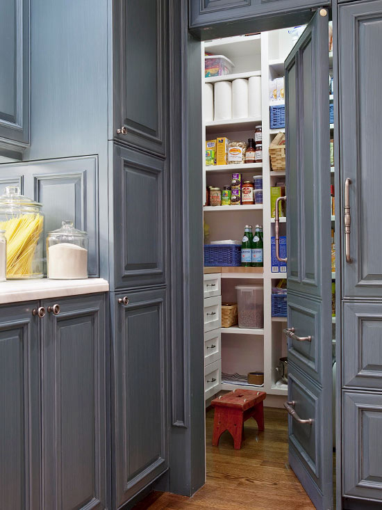 Hidden Pantry Transitional kitchen BHG