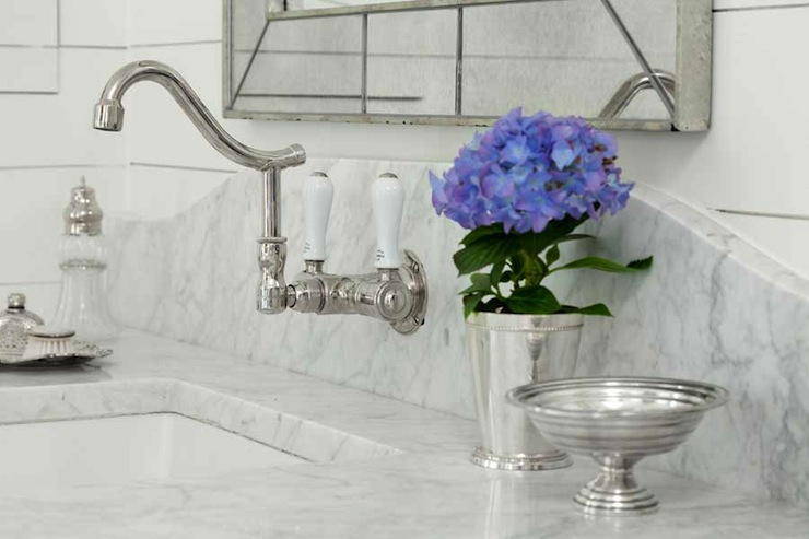 Wall Mount Faucet Design Ideas - Vintage wall mount bathroom sink for bathroom decor ideas