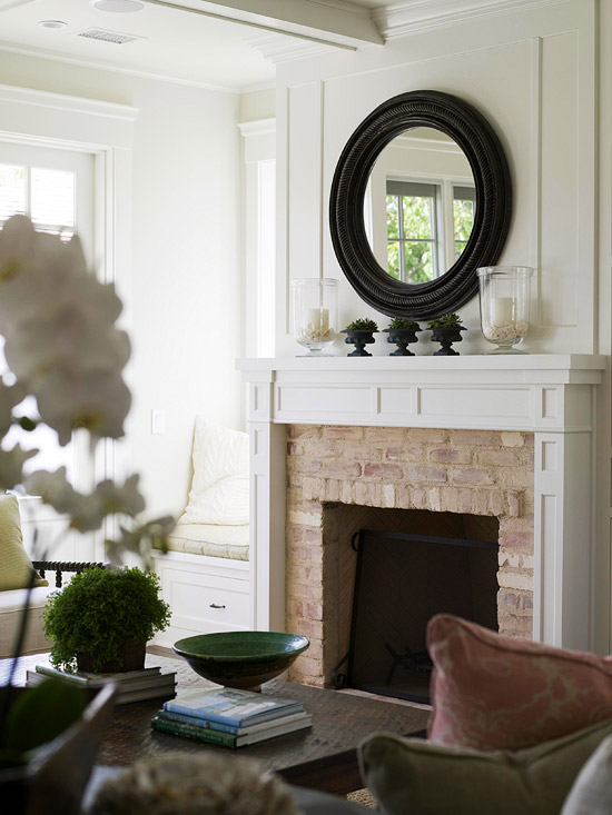 Fireplace Mirror French Living Room Melissa Miranda