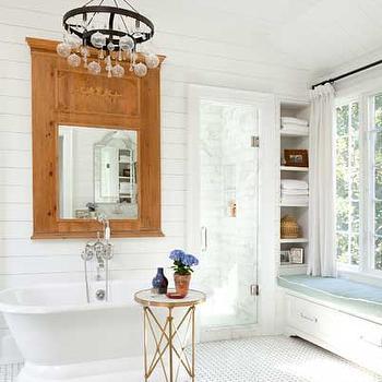 Black and White Marble Tile Floor, Cottage, bathroom, Hammersmith Atlanta