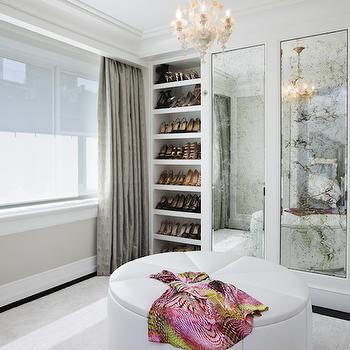 Antique Mirrored Doors, French, closet, GRADE Architecture & Interior Design