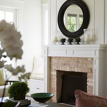 Faux Finish Brick Fireplace, Cottage, living room, BHG