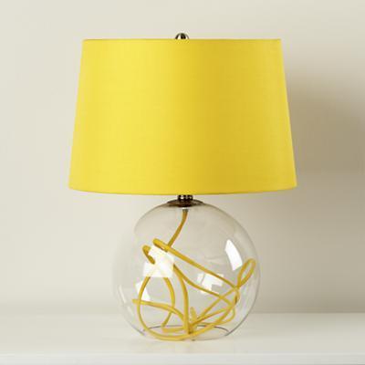 Yellow Crystal Ball Table Lamp Land Of Nod