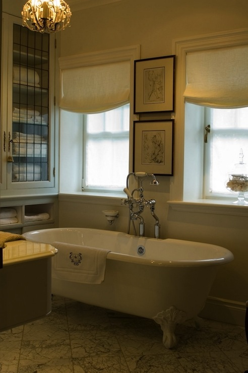 Master Bathroom Clawfoot Tub - French - bathroom - House & Home