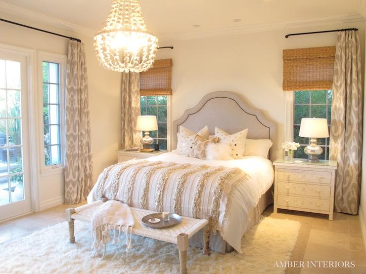 Ikat Window Panels Mediterranean Bedroom Amber Interiors