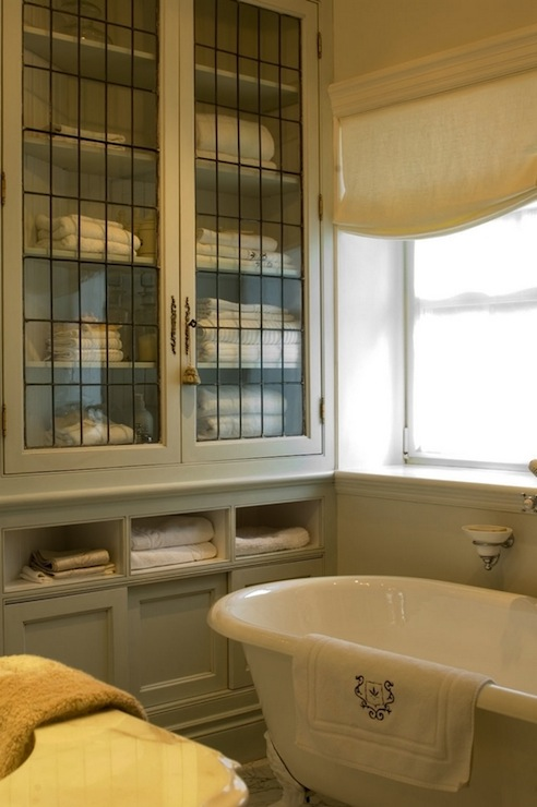 Leaded Glass Cabinet Doors French Bathroom