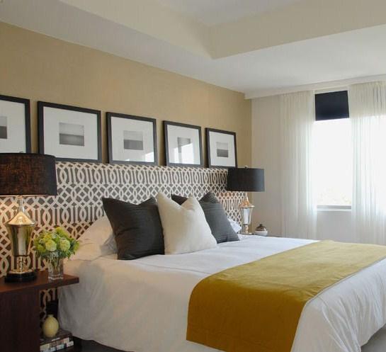 trellis bedding - contemporary - bedroom - benjamin moore onyx
