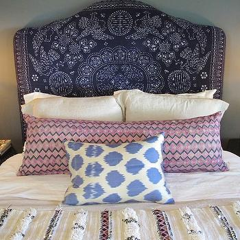 Purple Headboard, Mediterranean, girl's room, Amber Interiors