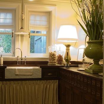 Skirted Sink Console, Vintage, kitchen, House & Home