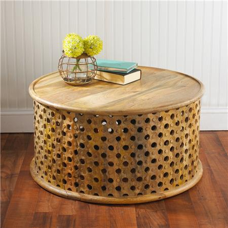 Shades of Light Moorish Mango Wood Coffee Table. Tribal   Look 4 Less and Steals and Deals