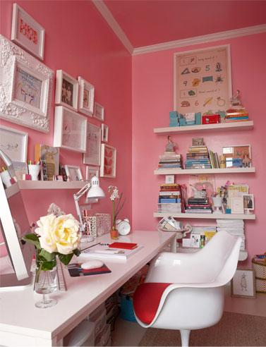 Pink Office Walls Design Ideas
