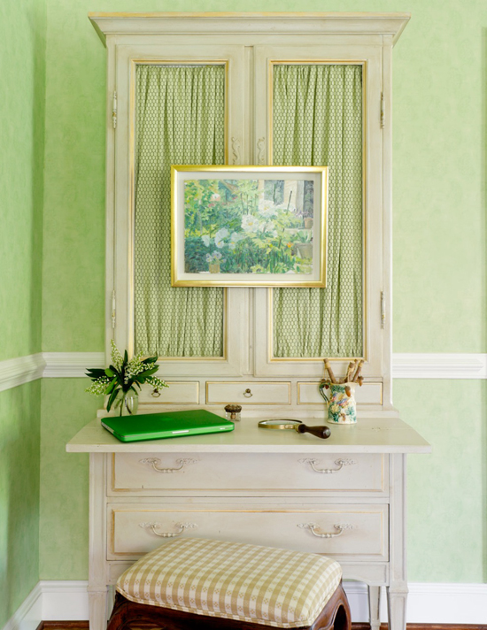 View Full Size Sophisticated French Country Green Office