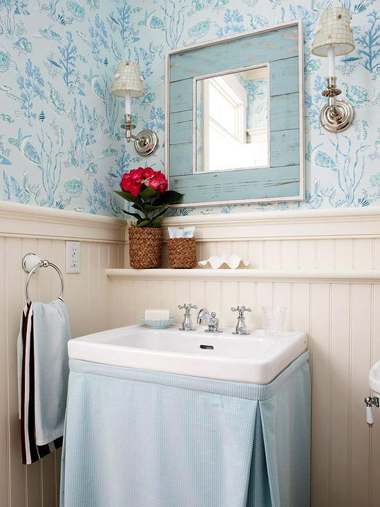 Skirted Sink Kitchen : Skirted Sink - Cottage - kitchen - BHG