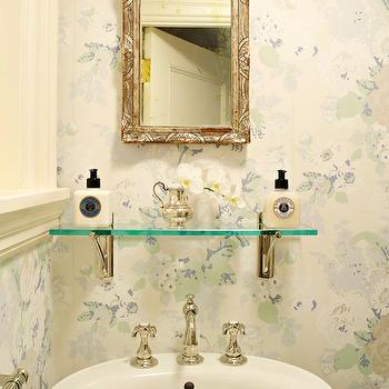 Ornate Mirror, French, bathroom, Suellen Gregory