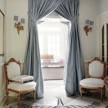 Floor to ceiling drapes design ideas for Foyer curtain ideas