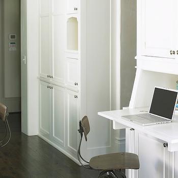 Built In Desk, Transitional, kitchen, Brian Watford Interiors