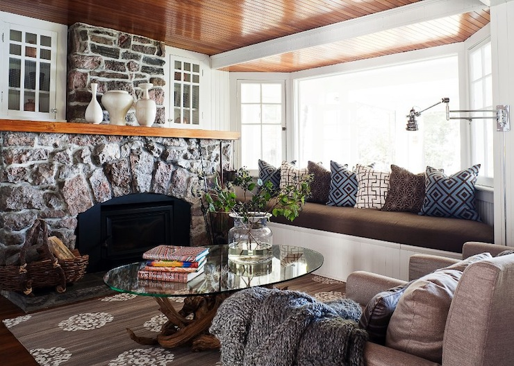 view full size  Chic cabin living room design. Modern Cabin Living Room Design   Contemporary   Living Room