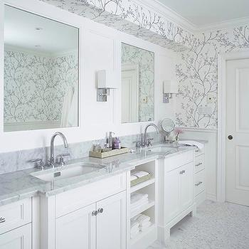 Beautiful Double Vanity Ideas View Full Size. Stunning Silver Bathroom ...