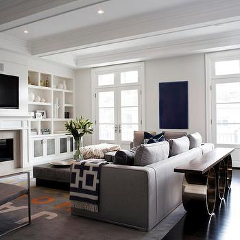 Built In Cabinets, Contemporary, living room, Jennifer Worts Design