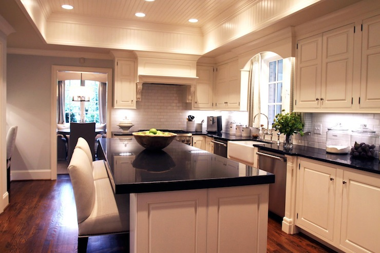 Magnificent Absolute Black Granite Transitional Kitchen Lucy And Interior Design Ideas Gresisoteloinfo