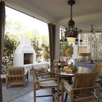 Covered Deck, Mediterranean, deck/patio, Geoff Chick