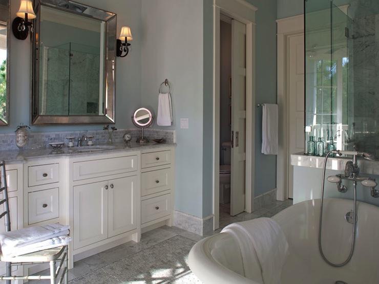 Venetian Beaded Mirror Transitional Bathroom Geoff Chick
