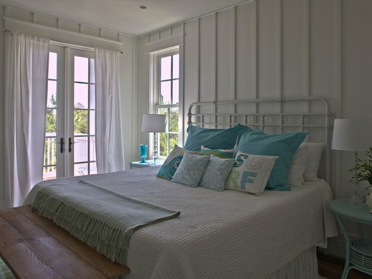 Turquoise Accents Cottage Bedroom Geoff Chick