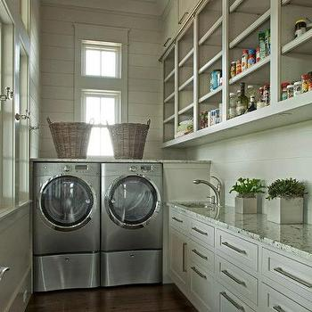 Gray Laundry Room, Cottage, laundry room, Geoff Chick