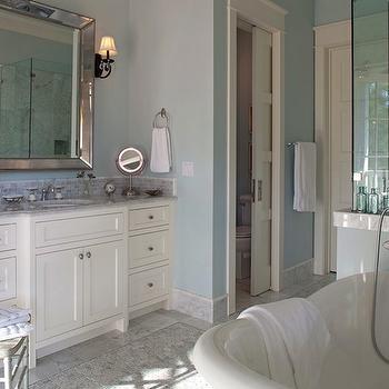 Venetian Beaded Mirror, Transitional, bathroom, Geoff Chick
