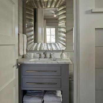 Gray Bathroom, Cottage, bathroom, Geoff Chick