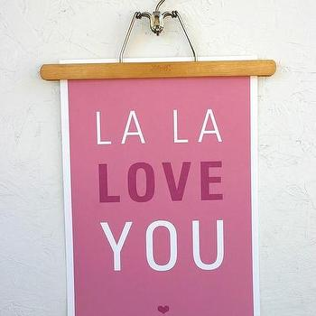 La La Love You Poster, SparklePower, Etsy