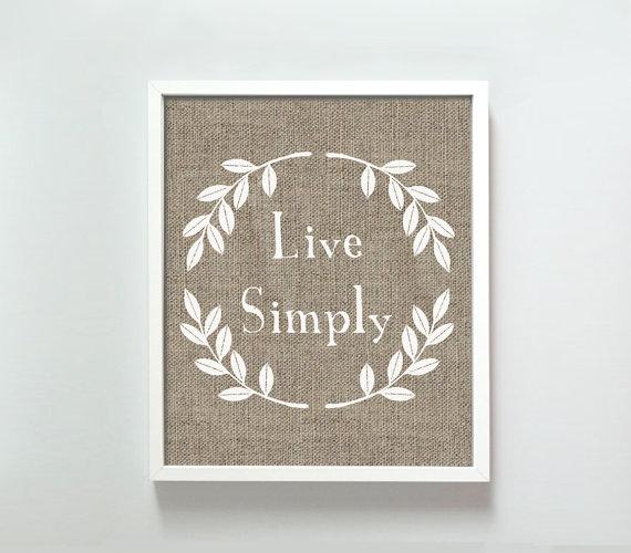 Live Simply print by GusAndLula - Etsy