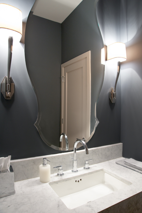 Slate Blue Walls Contemporary Bathroom Scott Lyon