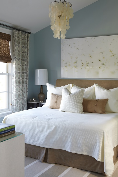 Taupe paint transitional bedroom benjamin moore for Blue and taupe bedroom ideas