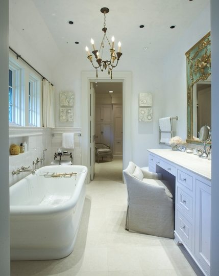 Master Bathroom Ideas With Freestanding Tub : Bathroom chandeliers design decor photos pictures