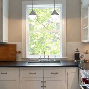Pendants over Kitchen Sink, Contemporary, kitchen, Scott Lyon & Company