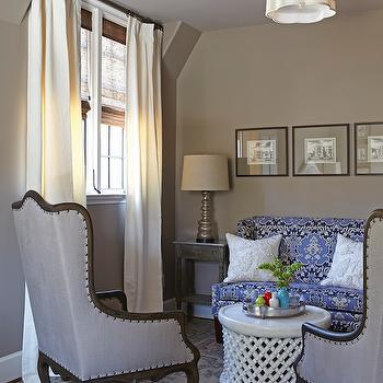 Taupe Paint, Transitional, bedroom, Benjamin Moore Ashley Gray, Tracery Interiors