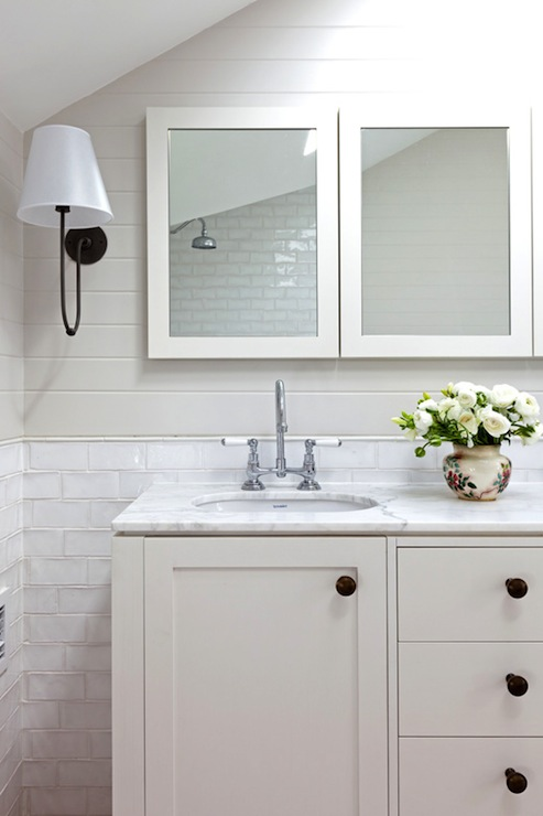 Off White Cabinets Cottage Bathroom Arent Amp Pyke