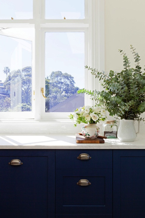 Blue kitchen walls design ideas Blue kitchen paint color ideas