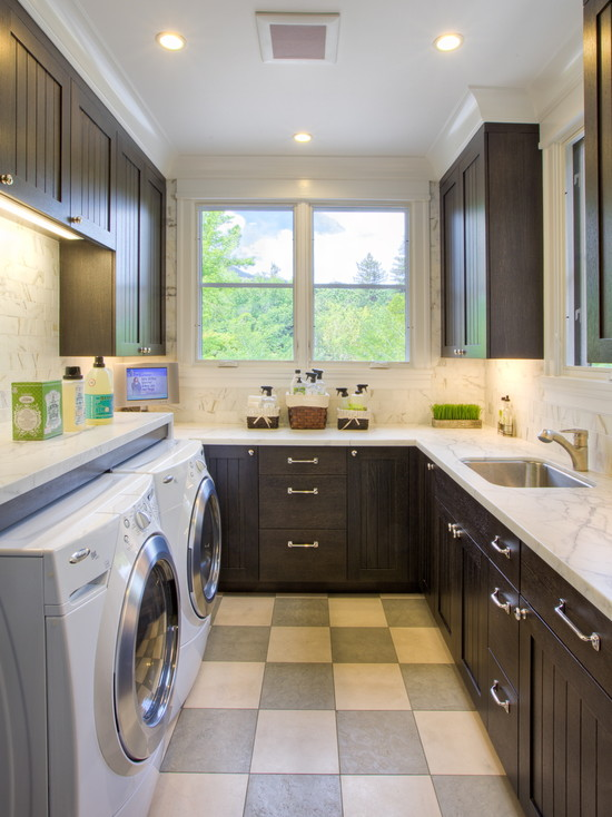 U Shaped Laundry Room Design Ideas