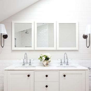 Off White Vanity, Cottage, bathroom, Arent & Pyke